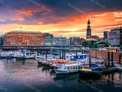 Hamburg Fotos u. Bilder - HAF-00102 Binnenhafen Hamburg Sonnenuntergang