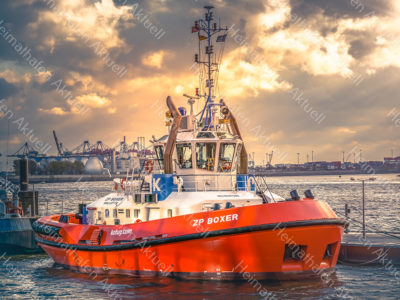 Hamburg Fotos - SHL-00030 Schlepper KOTUG ZP BOXER an der Schlepper Pier Neumühlen