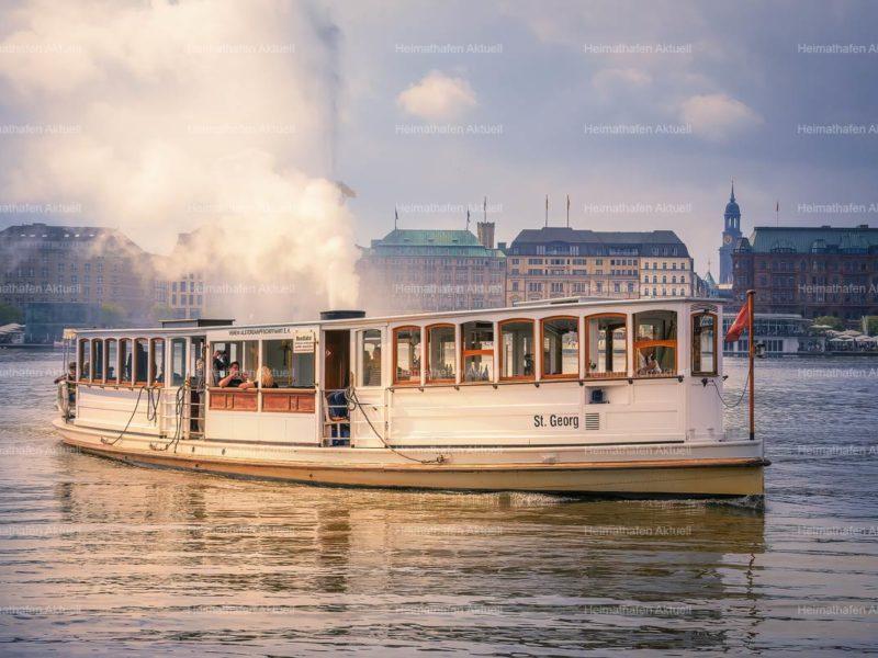 Hamburg Fotos Alster - ALS-00032-Alsterdampfer-STGEORG