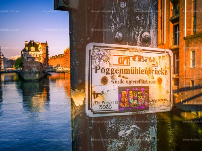 Hamburg Fotos und Bilder HAL-00042-Wasserschloss Poggenmühlenbrücke