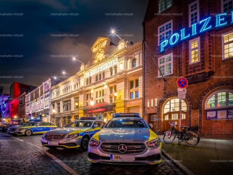 Hamburgbilder Stadtansichten HAL-00069-Polizeiwache Davidstrasse Reeperbahn