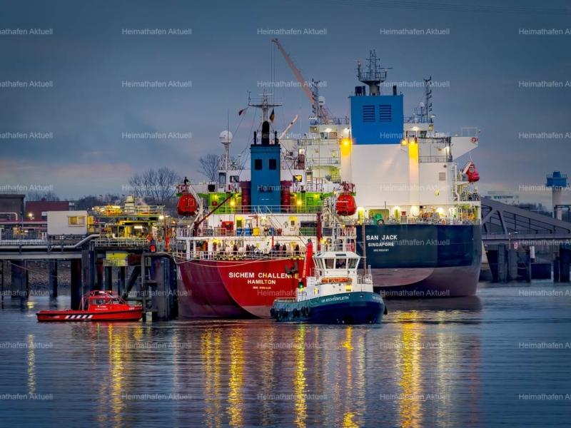 Hamburg-Foto-HAF-00189-Ölhafen-Wilhelmsburg-Abend