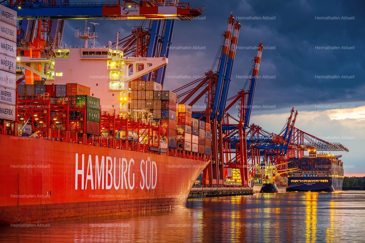 Hamburg Hafenfotos-HAF-00234-HAMBURG-SÜD-Containerhafen-Waltershof