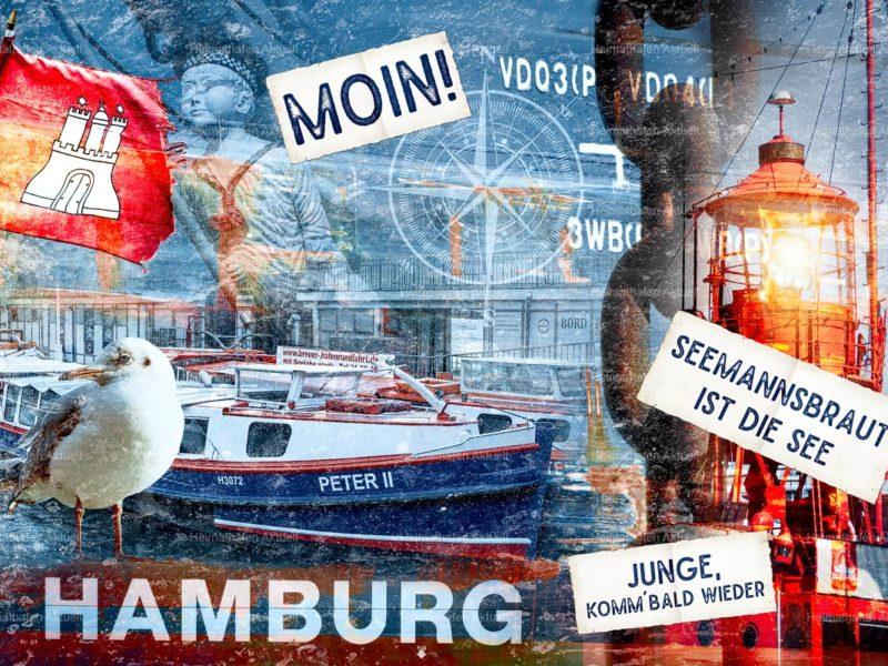 Hamburg abstrakt-ARW-00140-Fotocollage-Hamburg-Seemanns-Braut-ist-die-See