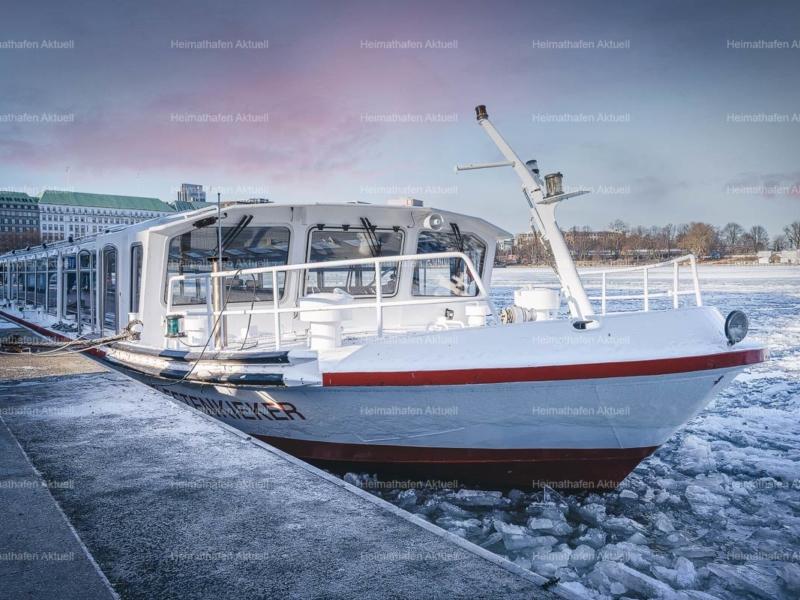 Hamburg Alster Fotos - ALS-00137-Alsterdampfer Fleetenkieker im Winter