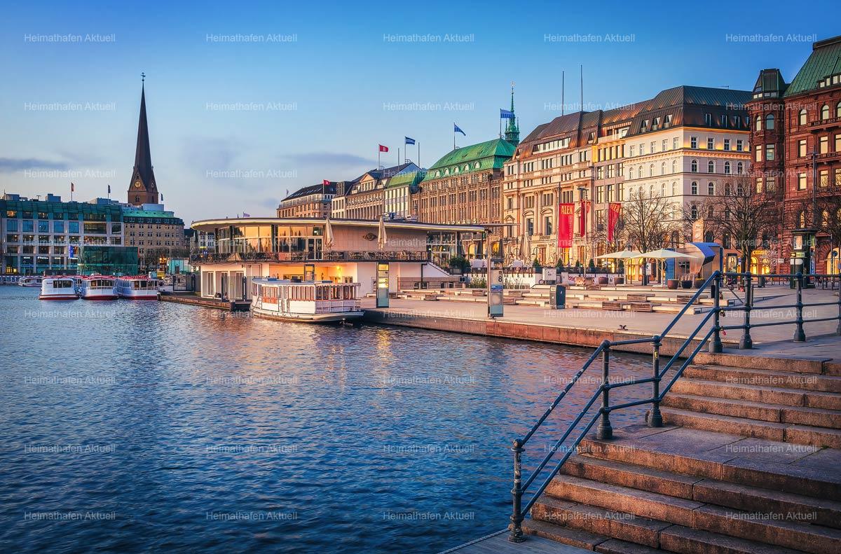 Hamburg Alster Fotos - ALS-00138-Jungfernstieg-am-morgen