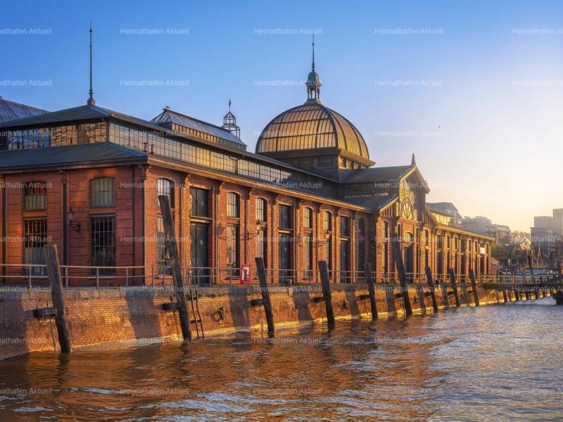 Hamburg-Foto-HAF-00194-Fischauktionshalle Sonnenaufgang